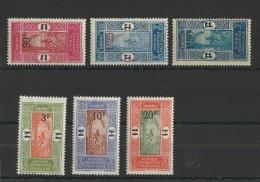 DAHOMEY - YVERT N°79/84 * - COTE = 37+ EUR. - Dahomey (1899-1944)