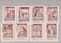 RUSSIA --- MATCHBOX LABELS -- 8x  ARHITECTURE -- 1970 - Matchbox Labels