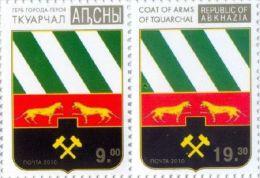 Abkhazia 2010, City Tquarchal Coat Of Arms, 2v - Georgië