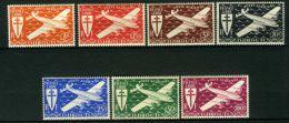 COTE  DES  SOMALIS ( AERIEN ) : Y&T N°  1/7  , TIMBRES  NEUFS  AVEC  TRACE  DE  CHARNIERE , A  VOIR . - Côte Française Des Somalis (1894-1967)