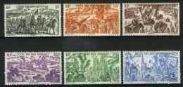 COTE  DES  SOMALIS ( AERIEN ) : Y&T N°  14/19  , TIMBRES  NEUFS  AVEC  TRACE  DE  CHARNIERE , A  VOIR . - Côte Française Des Somalis (1894-1967)