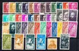 ESPAÑA 1955. AÑO COMPLETO. EDIFIL Nº 1143/1184.  USADOS .TOTAL 42 SELLOS. SES074 - 1931-Hoy: 2ª República - ... Juan Carlos I