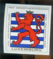 Blason Ecusson Autocollant Adhésif LUXEMBOURG - Autocollants