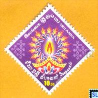 Sri Lanka Stamps 2015, Deepavali, Diwali, India, MNH - Sri Lanka (Ceylon) (1948-...)