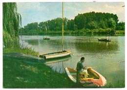 Environs De SENS--Les Bords De L'Yonne (pêcheurs--joli Plan) ,cpsm 15 X 10 N°10233 éd Nivernaises....pas Très Courante - France