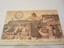 CPA  SOMMET DU PUY DE DOME L OBSERVATOIRE ET LES RUINES DU TEMPLE DE MERCURE 1925 - Other Municipalities