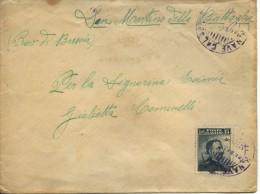 REGIA MARINA - REGIA NAVE CALABRIA - 1909 - BUSTA AFFRANCATA CON ANNULLO A DATARIO TIPO GULLER DELL´UNITA´ - Storia Postale