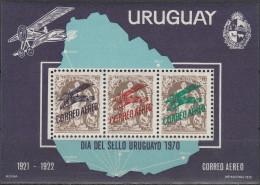"""URUGUAY Block 13(1181-3) """"Tag Der Briefmarke"""" MNH / ** / Postfrisch - Uruguay"""