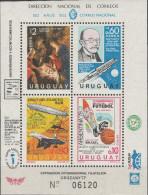 """URUGUAY Block 33(1457-60) """"Jahresereignisse"""" MNH / ** / Postfrisch - Uruguay"""