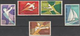 """VENEZUELA 1747-51 """"Olympische Sommerspiele Mexiko-Stadt"""" MNH / ** / Postfrisch Teilverfärbung Des Matten Gummi! - Venezuela"""