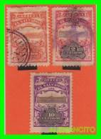 EL SALVADOR  -  3 SELLOS   DE SERIE AÑO 1909 - El Salvador
