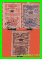 EL SALVADOR  -  3 SELLOS   DE SERIE AÑO 1915 - El Salvador