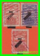 EL SALVADOR  -  3 SELLOS   DE SERIE AÑO 1915 - Salvador