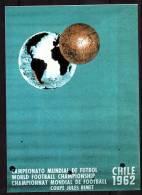 ALLEMAGNE   Carte  Football  Soccer  Fussball Cup 1962 - Coupe Du Monde