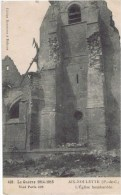 Cpa  AIX NOULETTE  L EGLISE BOMBARDEE - France
