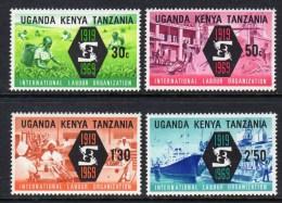 KENYA UGANDA TANZANIA - 1969 ILO INTERNATIONAL LABOUR ORGANISATION SET (4V) FINE MNH ** SG260-263 - Kenya, Uganda & Tanganyika