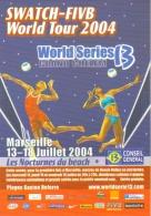 "Carte Postale ""Cart'Com"" (2004) - Swatch-Fivb World Tour 2004 - Les Nocturnes Du Beach (Beach Volley) Marseille - Volleyball"