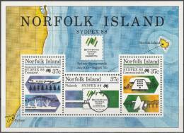 """NORFOLK INSELN Block 11(440-1C-2) """"Internationale Briefmarkenausstellung SYDPEX'88,Sydney"""" MNH / ** / Postfrisch - Norfolkinsel"""