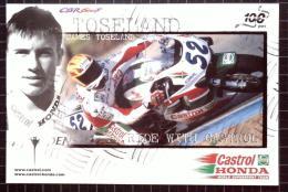 Castrol Postcard, Castrol Honda 100 Years, James Toseland - Motorbikes