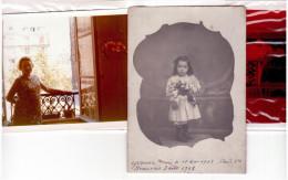 2 Photos D'une Femme à 3 Ans Puis à 66 Ans (nom,lieux Et Dates) - Persone Identificate