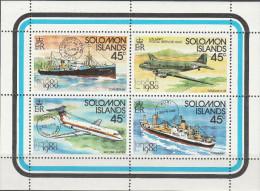"""SALOMON INSELN Kleinbogen 413-416 """"Internationale Briefmarkenausstellung LONDON 1980"""" MNH / ** / Postfrisch - Salomoninseln (Salomonen 1978-...)"""