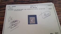 LOT 296079 TIMBRE DE FRANCE OBLITERE N�1 VALEUR 340 EUROS   BLOC