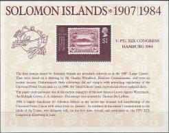 """SALOMON INSELN Block 14(521) """"Weltpostkongress,Hamburg"""" MNH / ** / Postfrisch - Salomoninseln (Salomonen 1978-...)"""