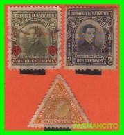 EL SALVADOR  3 SELLOS   DIFERENTES    AÑO  1920 - El Salvador