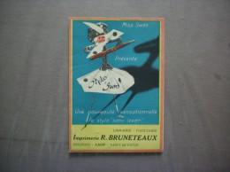 """LAON  R.BRUNETEAUX MISS SWAN PRESENTE LES STYLOS """"SWAN"""" SANS LEVIER DEPLIANT PUBLICITAIRE - Werbung"""