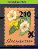 Muk054 FLORA BLOEMEN ODONTADENIA GRANDFLORA * OPDRUK OVERPRINT * FLOWERS BLUMEN FLEURS FLORES GUYANA 1981 PF/MNH - Pflanzen Und Botanik