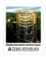Czech Republic - 2015 - Lipno Treetop Walkway - Mint Personalized Self-adhesive Stamp - Ongebruikt