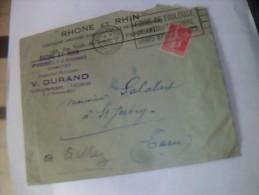 Vieux Papiers Lettre A Entete Assurance  Rhone & Rhin Flamme Foire De Toulouse Obliteration Cachet Rond Marcophilie - Autres