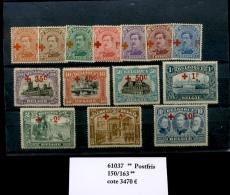 150/163  **  Belgique  Grand Luxe Sans Charnière Cote 3655 Euros   Rarement Proposée Impeccable - 1918 Croix-Rouge