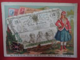 Chromo Billet Et Timbre De Pays - Autriche - Maison Du Petit St Thomas - Altri