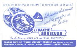 """Buvard Ancien Fromage  """"La Vache Sérieuse"""" - Buvards, Protège-cahiers Illustrés"""