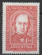 ARGENTINA 1959 21st International Physiological Science Congress. Medical Scientists - 1p Claude Rennard MNH - Neufs