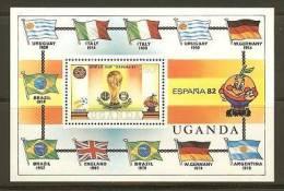 UGANDA 1981  Block 30 Soccer Espana  F2341 - Soccer