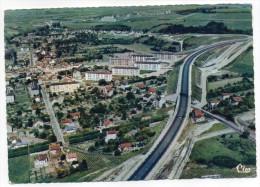 BONNIERES -1969-- Vue Panoramique Aérienne Et L'Autoroute ,cpsm 15 X 10 N° 418-93 éd Combier......à Saisir - Bonnieres Sur Seine