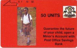 @+ Ouganda - Carte Tamura Ecolier 50U - Ref : UGA-01