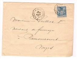 Lettre Avec Texte Sage Convoyeur Ligne T2 Nancy à Chalindrey . TB - Poststempel (Briefe)