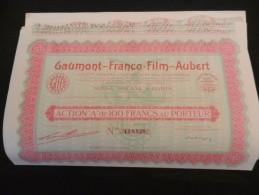 GAUMONT -  FRANCO FILM - AUBERT Act A De 100F - Lot De 21 Titres - Cinéma & Théatre