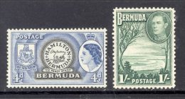 BERMUDA, 1938 1/- Also 1953 4d Unmounted Mint - Bermuda