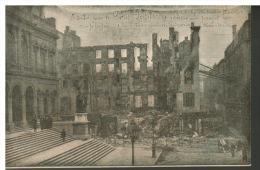 CPA  42 SAINT-ETIENNE - Hôtel De Ville Incendie (album 2 Cpa 80) - Saint Etienne
