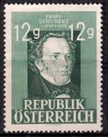 645B - Austria 1947 - Franz Schubert & Franz Grillparzer  Used - 1945-.... 2ª República