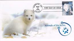 16586. Carta F.D.C. BARROW (AK) Arkansas. Tehma Zorro Artico. Fox - Animalez De Caza