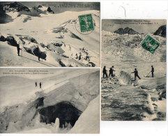 Massif Du Pelvoux - 3 CPA - Pic De La Grave Et Col De Lauze - Glacier Du Mont De Lans - Glacier Blanc (84022) - France