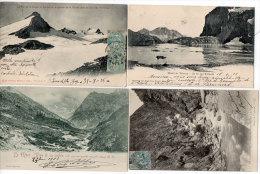 4 CPA - Le Mont Viso - Lac D' Echauda - Pic De La Grave, Le Cunier - .... (84024) - France