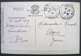 Carte En Franchise Militaire De JERUSALEM Oblitération Trésor Et Postes 601 Sur Carte Postale Jérusalem Mosquée Omar1919 - Marcophilie (Lettres)