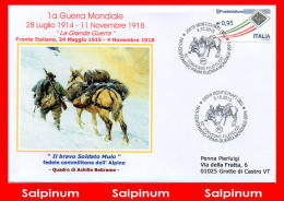 ANNULLO ANNIVERSARIO 100° PRIMA GUERRA MONDIALE – MONTICHIARI - 6. 1946-.. Repubblica