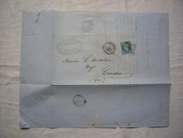 Facture Lettre à Entête Chrisman Cie Des Bateaux à Vapeur 1861 Bordeaux à Mr Andrieu à Condom Gers - Trasporti